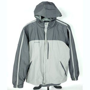 Columbia Mens Large Gray Packable Jacket Hooded